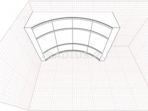 Угловой радиусный шкаф купе
