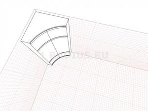 Вогнутый симметричный радиальный шкаф купе