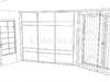 Угловой шкаф купе прямой асимметричный
