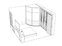 Угловой шкаф-купе выгнутый симметричный