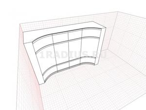 Угловой комбинированный шкаф купе