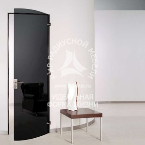 Радиусная дверь стеклянная