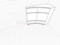 Угловой шкаф-купе вогнутый асимметричный