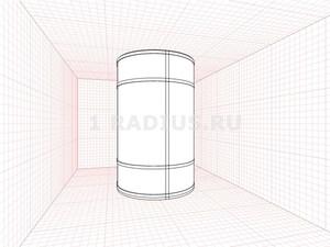 Круглый шкаф купе