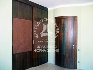 Радиусная дверь шпонированая