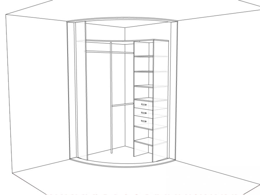 Статья о наполнение шкафов-купе - 1radius.