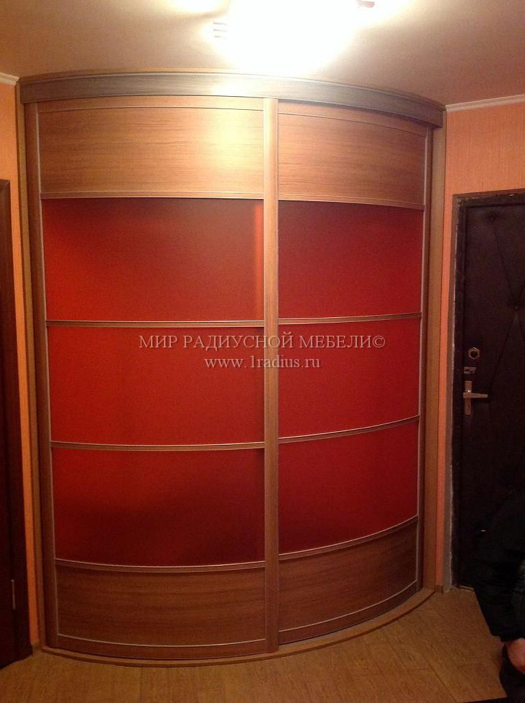 Выпуклый радиусный шкаф в прихожей - магазин 1radius.